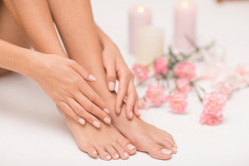 schöne Hände und Füße